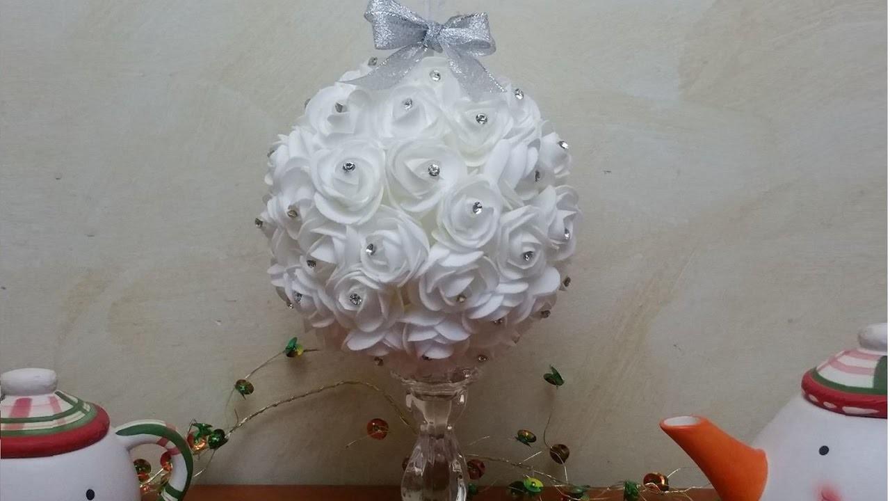 Rose Fai Da Te composizione centrotavola sfera di rose fai da te