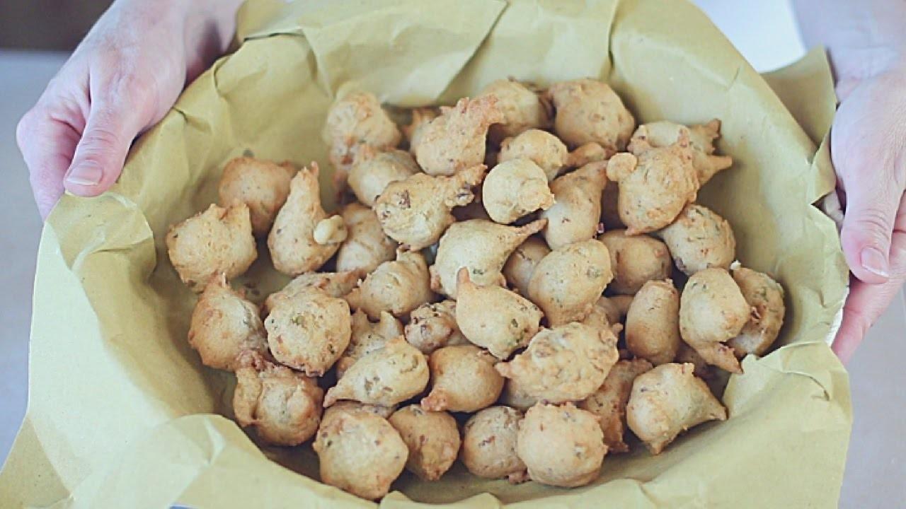FRITTELLE SALATE TONNO & OLIVE Ricetta Facile - Savory Olives & Tuna Fritters Easy Recipe