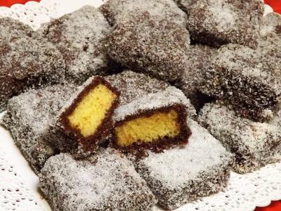 Lamingtons australiani - dolci cocco e cioccolato facili