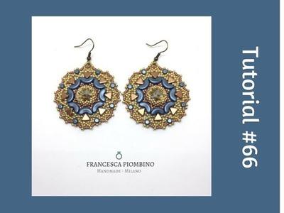 TUTORIAL PERLINE [66] - Orecchini Rosone: rivoli da 12mm, arcos, minos e kheops par Puca.