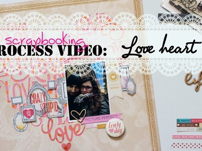 SCRAPBOOKING process video || Love heart ♥