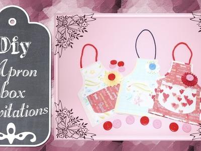 Card invito - Apron box invitations ♡ DIY Tutorial