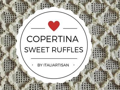 Copertina Sweet Ruffles, Copertina all'uncinetto, crochet baby blanket