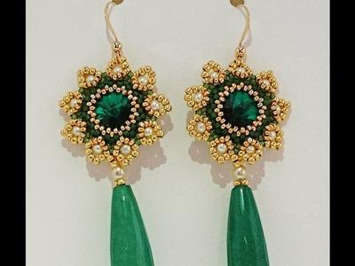 TUTORIAL | Orecchini Hazel (rivoli, delica, perle, rocailles)