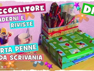 Tutorial: Organizzatore Quaderni e Porta Penne da Scrivania | Riciclo Creativo | DIY Book&Pen Holder