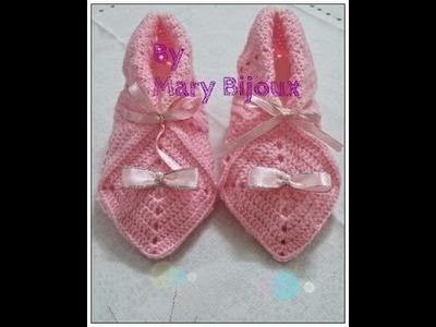 Babbucce di lana a uncinetto.Granny Square crochet slippers
