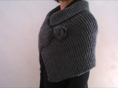 COPRISPALLE maglia rasata. knitting shrugs