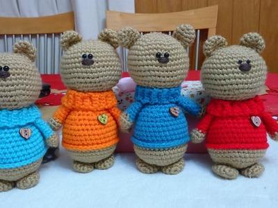 Oso Corazon Amigurumi a Crochet (VERSION ZURDO) parte 1