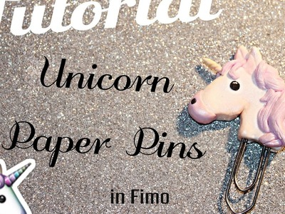 *Polymer Clay Tutorial* - Unicorn Emoji Paper Clips || Kiki Kreations