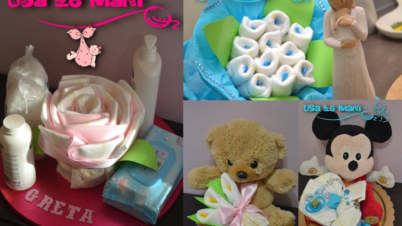 Tutorial fiori di pannolini. How to make diaper flowers