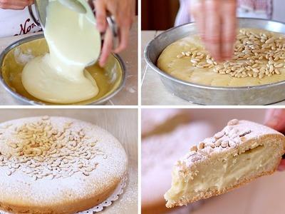 TORTA DELLA NONNA FATTA IN CASA RICETTA FACILE - Homemade Grandma's Cake Easy Recipe