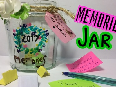 DIY memories jar 2017, paint with glass color,  shabby chic _ Il barattolo dei ricordi, colori vetro