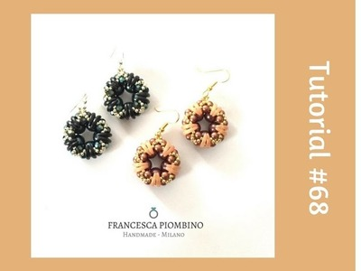 TUTORIAL PERLINE [68] - Orecchini Anna: crescent, perle da 4 e 8mm, rocailles.