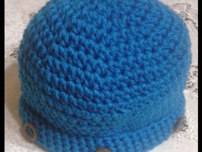 Cappello per uomo all'uncinetto.Hat for man crocheted.Sombrero de ganchillo para el hombre.