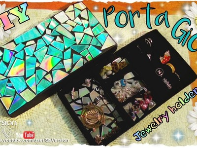 Tutorial: Creare un Porta Gioie Riciclando Cd e scatole di cartone | DIY Jewelry Organizer