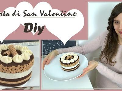 Diy per San Valentino.scatola regalo a forma di torta.collab. with LE IDEE DI CARMEN