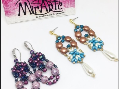 DIY Tutorial Orecchini Lisa - Earrings Lisa con Candy Bead- ES O Bead