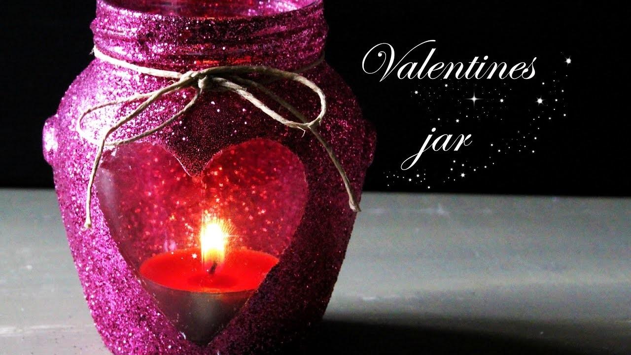 JAR di SAN VALENTINO ♡. GLITTER JAR DIY