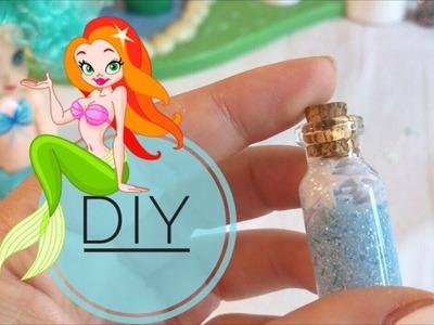 Lila DIY- Mini Bottiglietta con Polvere Magica di Sirena Glitter (con sale da cucina)