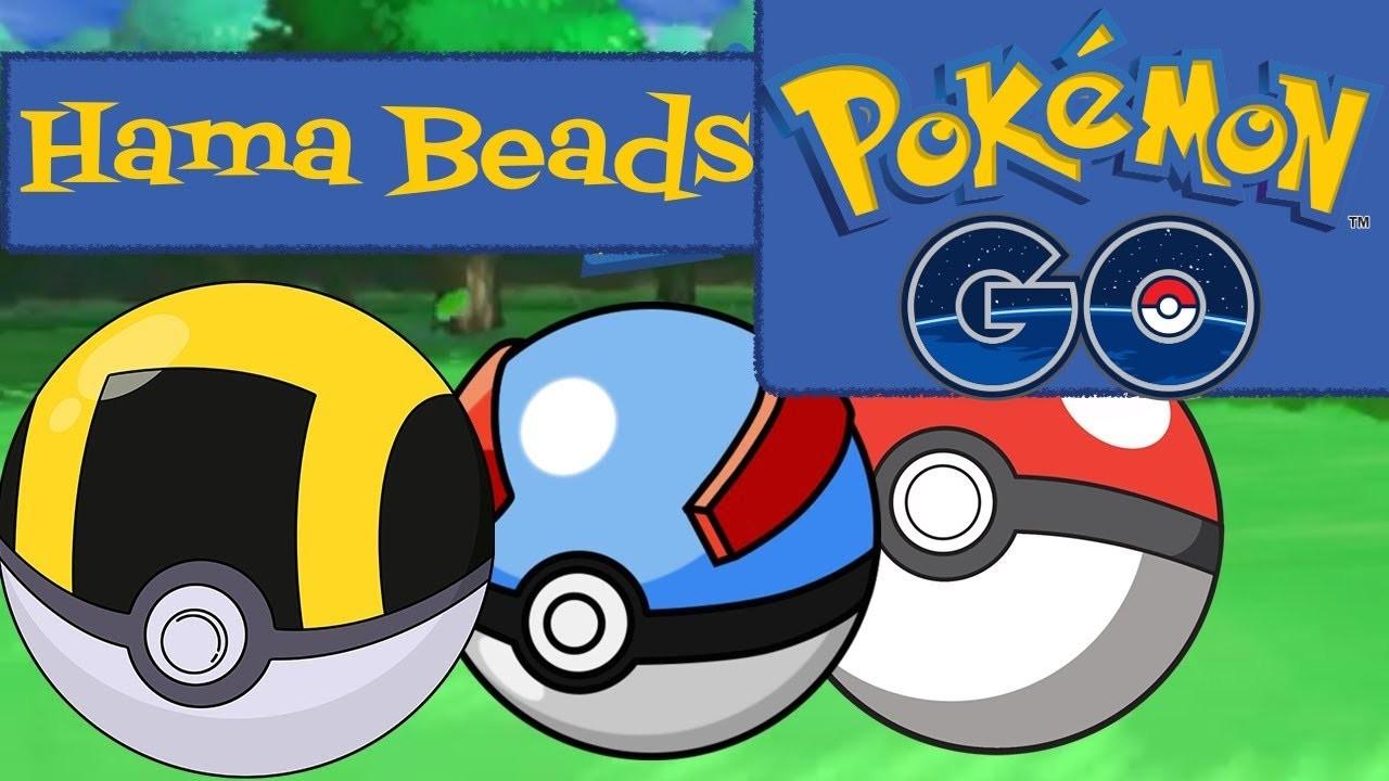 Hama Beads - Pokemon Go #1 - PokeBall