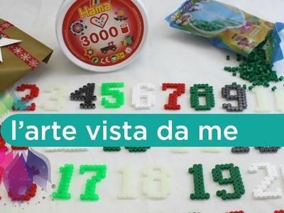 Numeri per Calendario dell'avvento Fai da te con Hama beads -Tutorial (ft. Perline da stirare.it)
