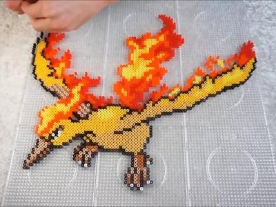 Pokémon MOLTRES - Hama Beads. Perler Beads