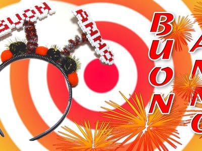 Cerchietto BUON ANNO.Happy New Year con Perline da Stirare Hama Beads - Tutorial Accessori Capodanno