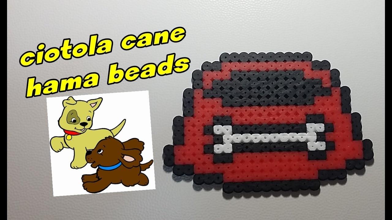 Perline da stirare: ciotola cane hama beads-pyssla ||kamipucca||