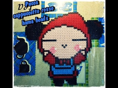 Pucca gigante cappuccetto rosso hama beads.pyssla- kamipucca-