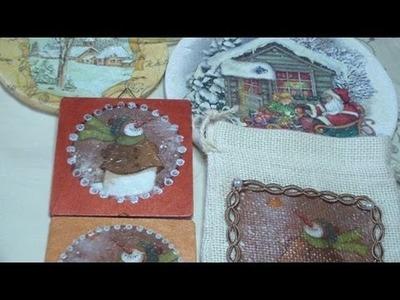 Tutorial 3x1 (3 progetti con la tecnica del decoupage + diverse idee per il Natale)
