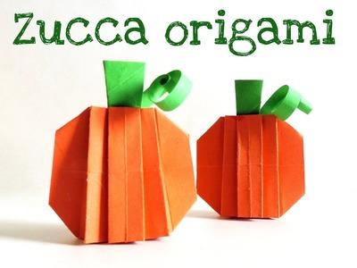 Autnno e Halloween: la zucca 3D origami