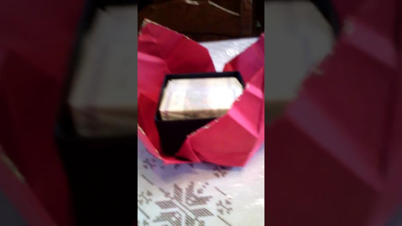 Origami scatola regalo (per la mia mamma )fatto da me