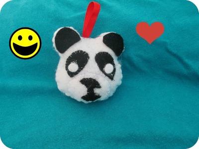 GADGET PORTACHIAVI PANDA FAI DA TE---keychain gadget panda DIY