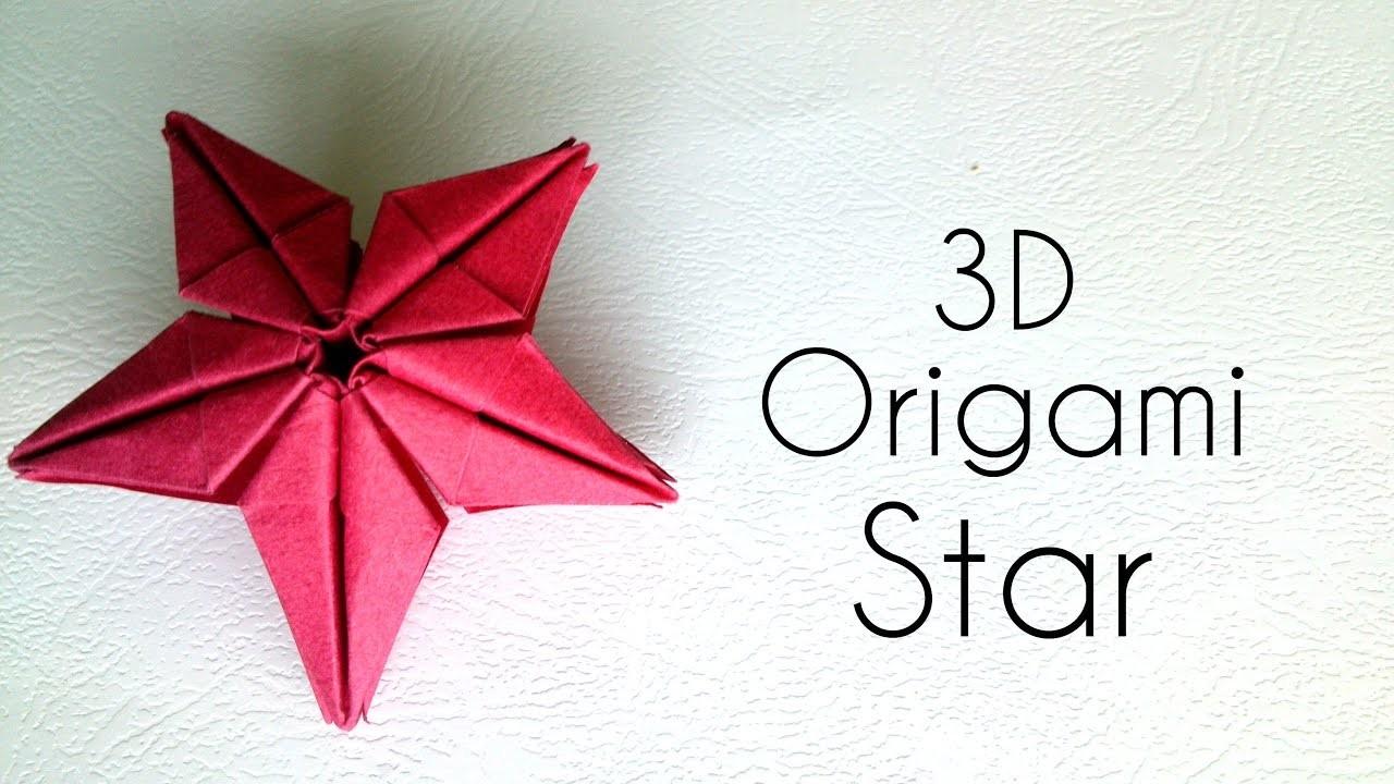 origami 3d star origami tutorial