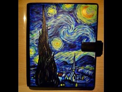 Starry Night (Van Gogh) - hand painted planner by Claudia Iavarone