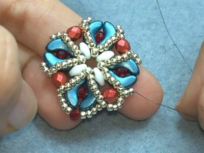 DIY- Tutorial orecchini Narcissa con perline Arcos, Superduo, mezzi cristalli e cipollotti