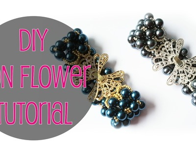 ENG SUBS - DIY Tutorial bracciale con perle Fiori d'acciaio. Iron Flower bracelet with pearls