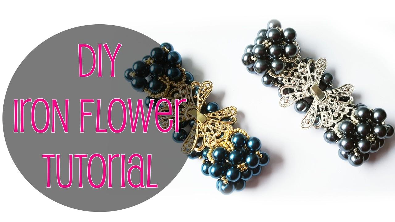 ENG SUBS - DIY Tutorial bracciale con perle Fiori d'acciaio. Iron Flower bracelet with pearls