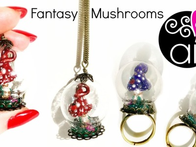 Fantasy Mushrooms | Polymer Clay Tutorial | DIY Miniatures