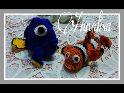 Marlin, Dory, Nemo video tutorial uncinetto amigurumi.video tutorials crochet amigurumi