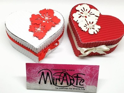 DIT Tutorial Scatola Cuore di carta ondulata. Gift Box Hearts