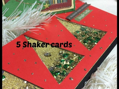 5 Shaker cards Natalizie- Scrapbooking Tutorial | Scrapmary