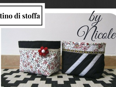 Cucito creativo- tutorial cestino porta oggetti - DIY fabric basket
