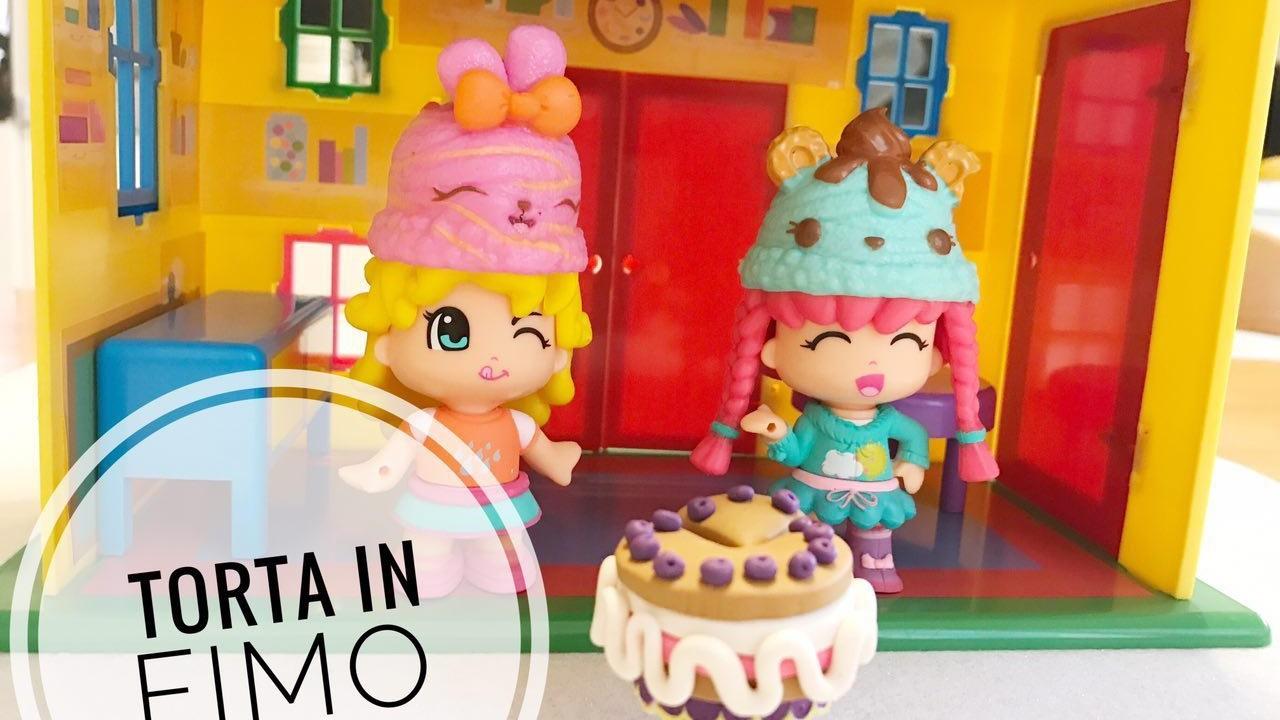LillaCrea #1  Come fare una torta in fimo per le Piny Pon
