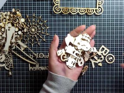 Pacco abbellimenti in legno di AlessiaAcasaDiAle design- Scrapbooking Tutorial | Scrapmary