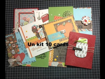 SSS. Un kit 10 cards  (novembre)- Scrapbooking Tutorial | Scrapmary
