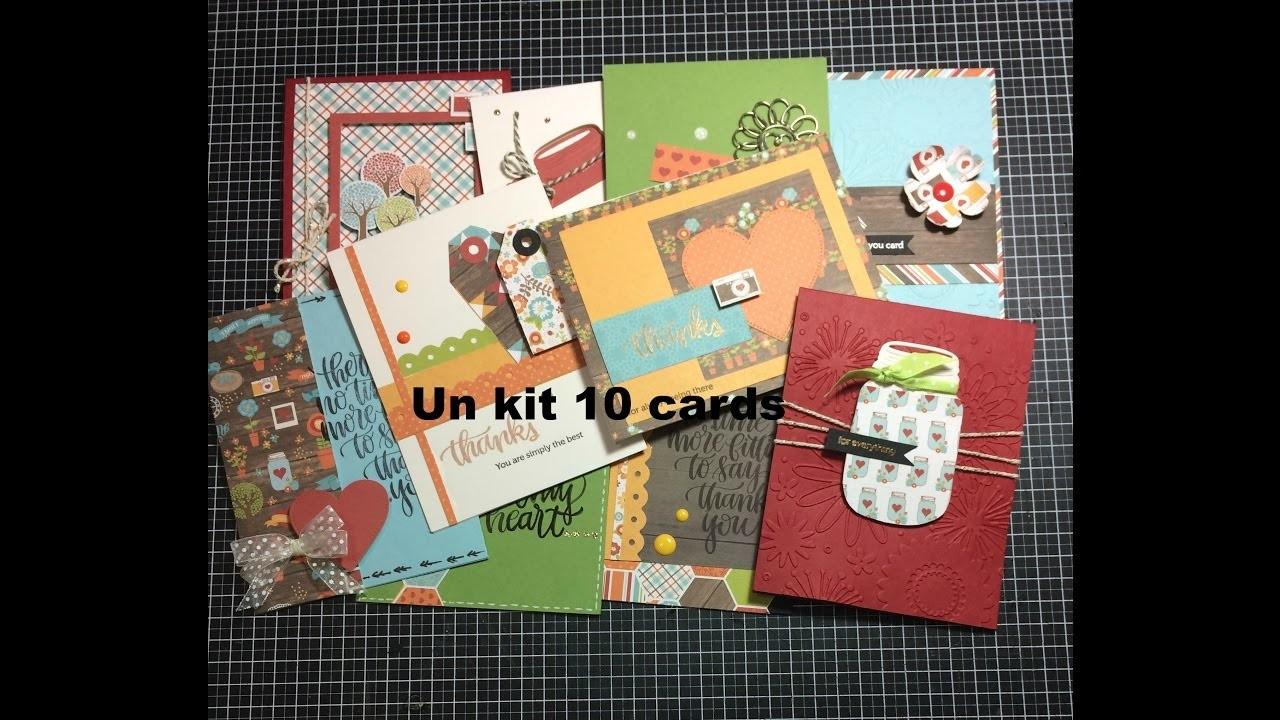 SSS. Un kit 10 cards  (novembre)- Scrapbooking Tutorial | Scrapmary
