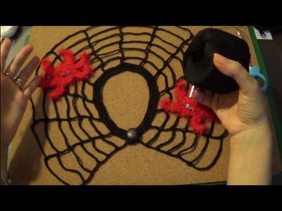 Crocheted Collar Web - Colletto Ragnatela a uncinetto - Ganchillo Web cuello.