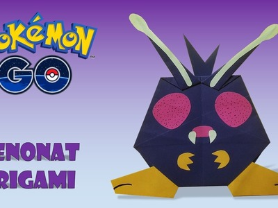 POKEMON - Origami VENONAT Tutorial DIY origami pokemon diy how to make origami venonat