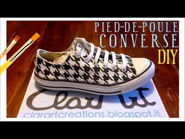 DIY Pied-de-poule Converse!